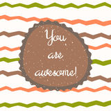 You are awesome background Royalty Free Stock Photography