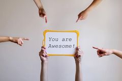 You are awesome stock photo