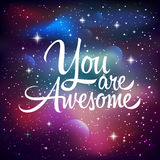 You are awesome. Greeting card Stock Photo