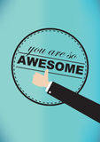 You Are So Awesome Vector Illustration Royalty Free Stock Image