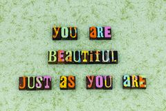 You beautiful good heart forever royalty free stock images