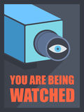You are being watched Stock Image