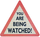 You are being watched isolated Royalty Free Stock Photography