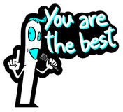 You are the best Royalty Free Stock Images