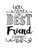 You are the Best Friend in the World Royalty Free Stock Image