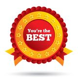 You are the best icon. Customer service award. Stock Images