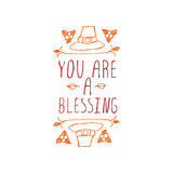 You are a blessing - typographic element Royalty Free Stock Image