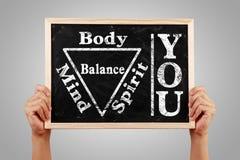 You Body Spirit Soul Mind Balance Stock Photo