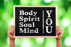 You Body Spirit Soul Mind Stock Photography
