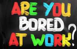 Are You Bored At Work Concept Stock Images