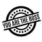 You Are The Boss rubber stamp Royalty Free Stock Photos