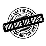 You Are The Boss rubber stamp Royalty Free Stock Images