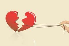 You broke my heart Stock Photography