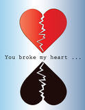 You broke my heart Royalty Free Stock Image