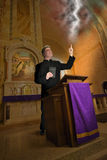 Priest, Preacher, Minister, Clergy, Fire Brimstone Stock Photos