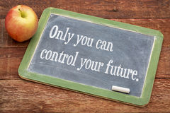 Only you can control your future Stock Images