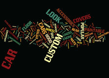 You Can Custom Fit Your Vehicle Text Background  Word Cloud Concept Royalty Free Stock Image