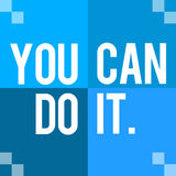 You Can Do It Blue Four Blocks Royalty Free Stock Photos