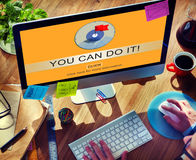 You Can Do It Goal Target Reason Potential Vision Concept Royalty Free Stock Photos