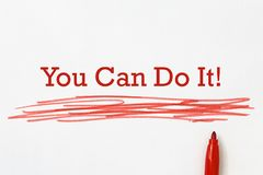 Free You Can Do It Heading Stock Photo - 137389150