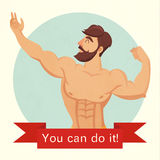You can do it motivational and inspirational poster. Stock Photo