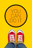 You Can Do It Motivational Message Stock Photography