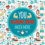 You can do much more phrase on fitness seamless Royalty Free Stock Image