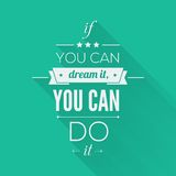 You can do it Quote Typographical Poster, Vector Stock Photo