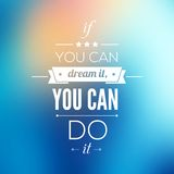 You can do it Quote Typographical Poster, Vector Stock Photography