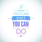 You can do it Quote Typographical Poster, Vector Stock Photos