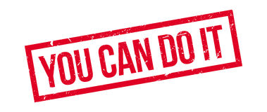 You can do it rubber stamp Stock Photography