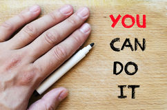 You can do it text concept Royalty Free Stock Images