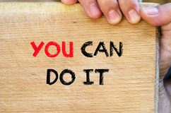 You can do it text concept Stock Photography