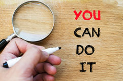 You can do it text concept Royalty Free Stock Photography