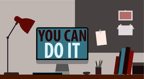 YOU CAN DO IT. WORKPLACE Royalty Free Stock Photo