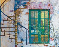 Very old building and window Royalty Free Stock Photo