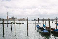 Venezia sea and boats. You can go to Venice and see this truly amazing view, where you can walk or just enjoy the skyline Royalty Free Stock Photography