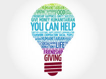 Free You Can Help Bulb Word Cloud Stock Photos - 86075753