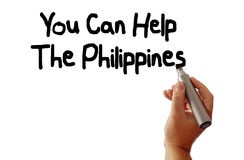 You Can Help The Philippines Stock Photo