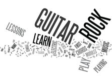 You Can Learn To Play Rock Guitar Text Background  Word Cloud Concept Royalty Free Stock Images