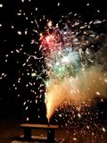 Fireworks during Chinese New Year royalty free stock image