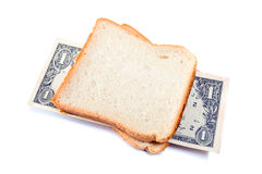 That you can place in a sandwich - your money. Royalty Free Stock Photos