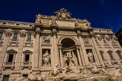 Another perspective of the Fontana di Trevi - Rome - Italy stock photos