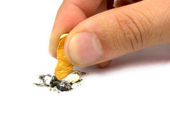 You can stop smoking. On white background Royalty Free Stock Photo