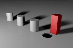 Free You Can T Fit A Square Peg In A Round Hole Stock Photos - 37075413