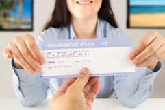 You can travel with this ticket Royalty Free Stock Photos