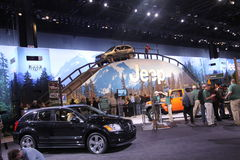 You can try all Jeeps models right here. Chicago auto show February 2011 Stock Image