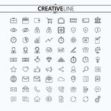 Outline business and finance icons set. You can use this icons for your web and mobile graphical user interface, advertising, etc Royalty Free Stock Photos