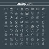 Outline business and finance icons set. You can use this icons for your web and mobile graphical user interface, advertising, etc Stock Photos
