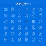 Outline business and finance icons set. You can use this icons for your web and mobile graphical user interface, advertising, etc Royalty Free Stock Photography